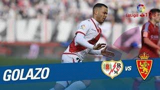Golazo de Raúl de Tomás (1-0) Rayo Vallecano vs Real Zaragoza