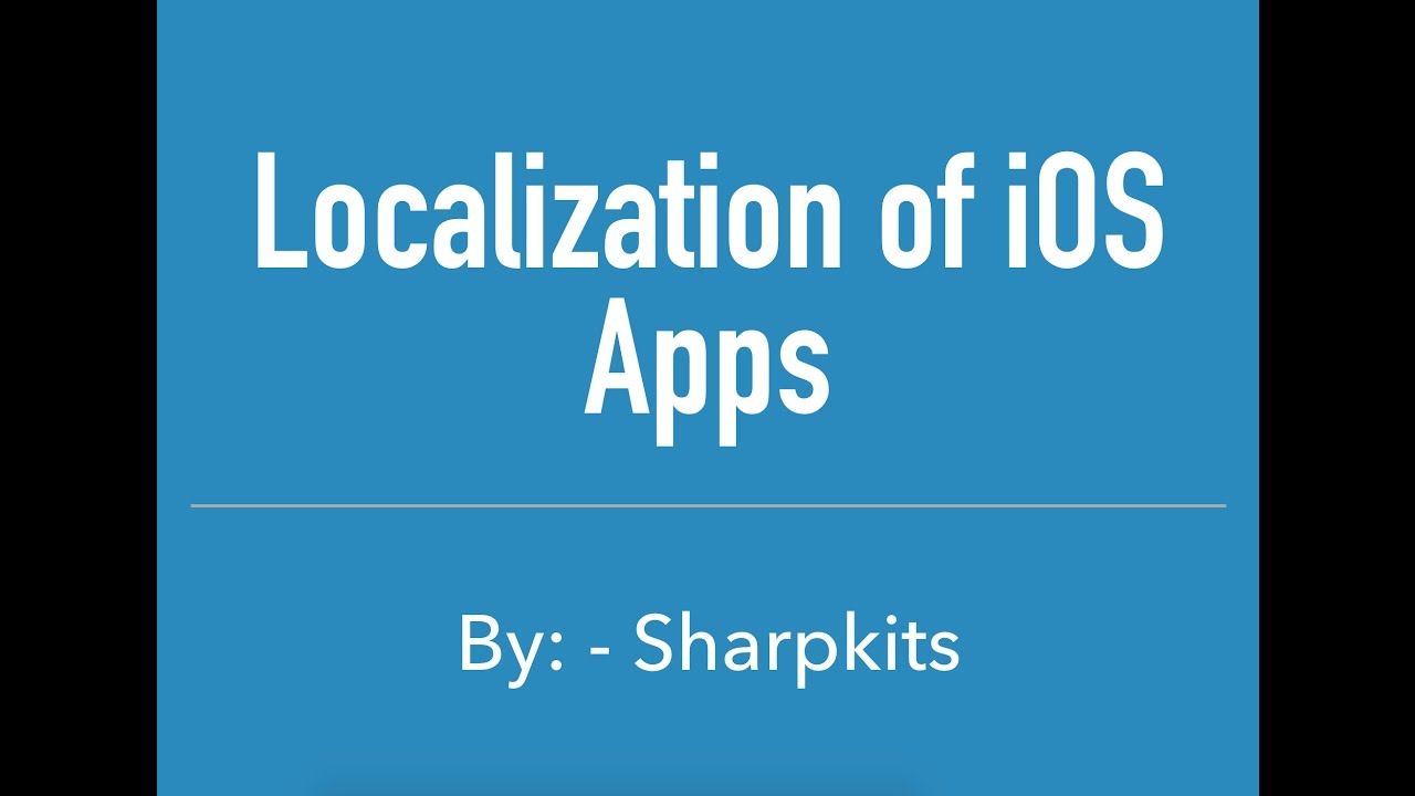 iOS Localization Quick & Easy Tutorial - How to Localize your iOS App with Xcode 8 and iOS 10