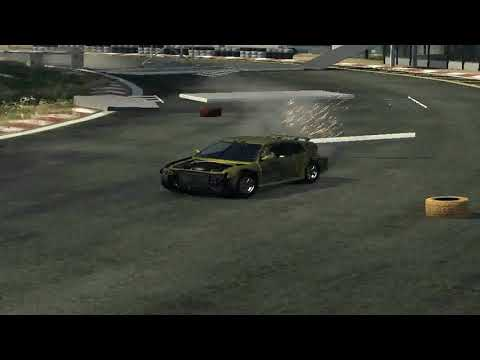 flatout 3 : race with replay 22 (time vs bomb 4) with my car of ctr sport