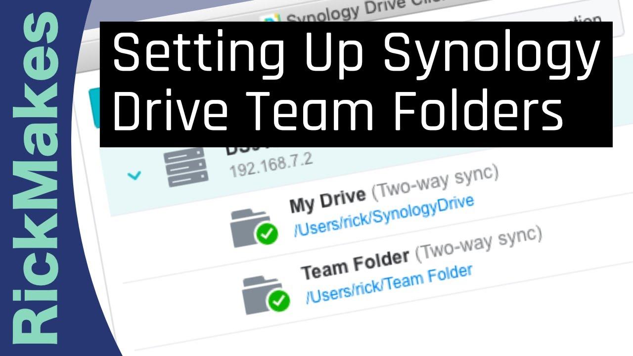 Setting Up Synology Drive Team Folders