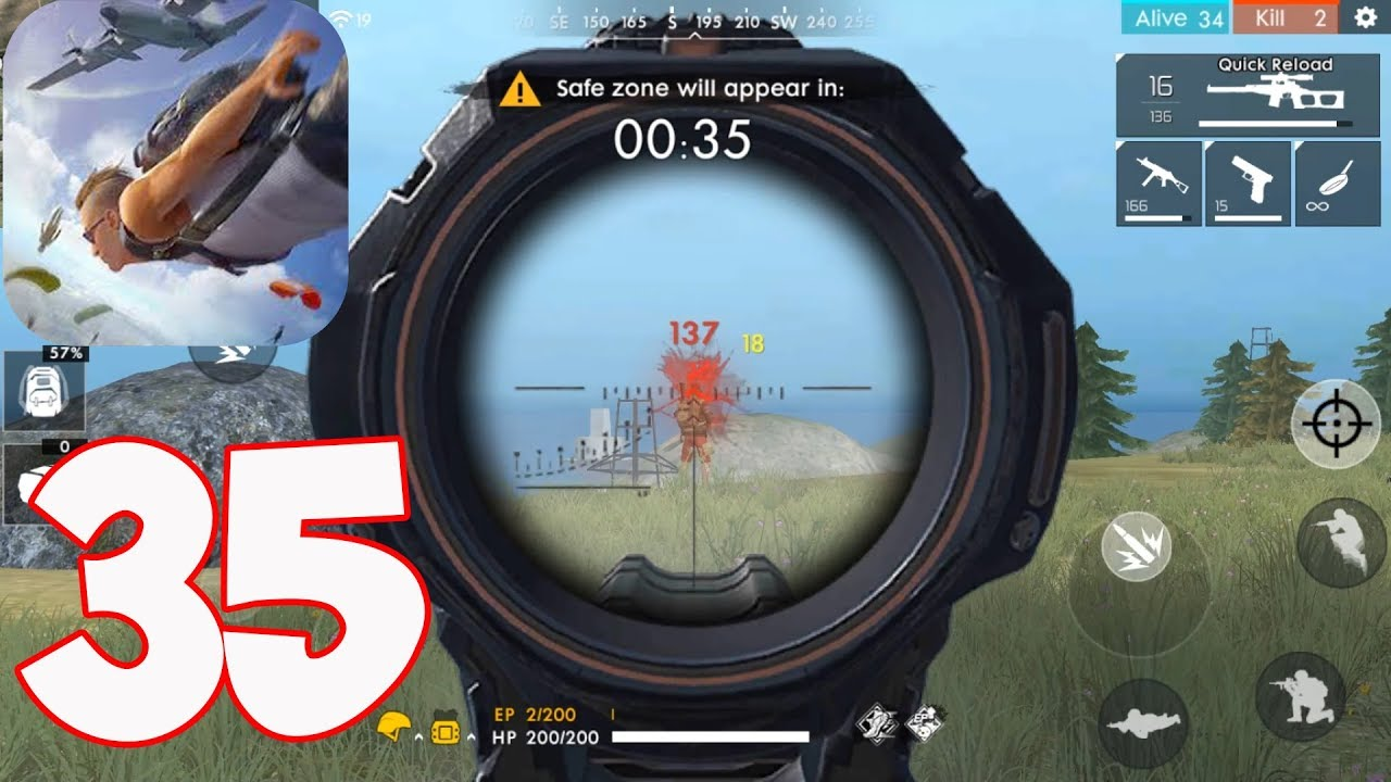 Free Fire Battlegrounds – Gameplay part 35 – Solo Bermuda 10 kills (iOS,Android)
