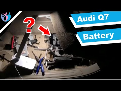 How to replace a car battery on Audi Q7 2007?