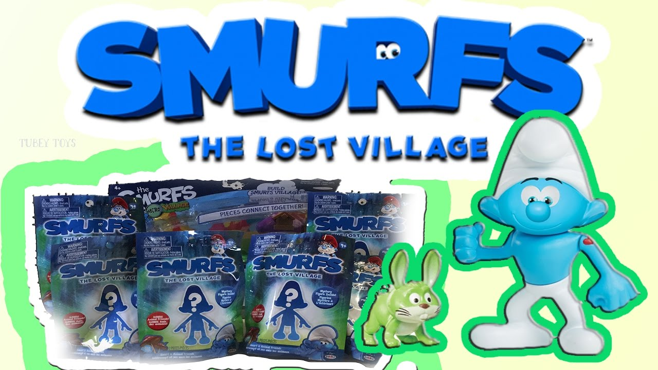 The Smurfs Lost Village Blind Bags Vintage Poet Smurf Thrift Store