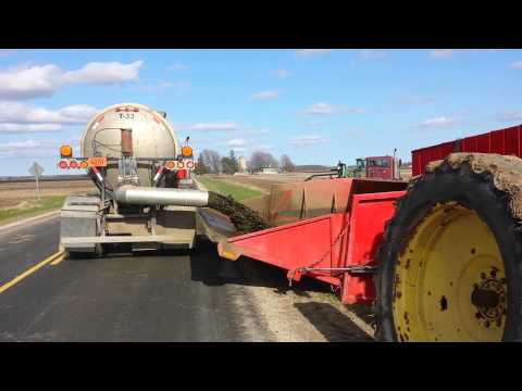 Phil's Pumping Dumping Manure Into Roadside Dumpst