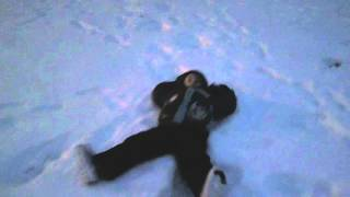 Drone - Kevin Makes Snow Angels 1/26/16