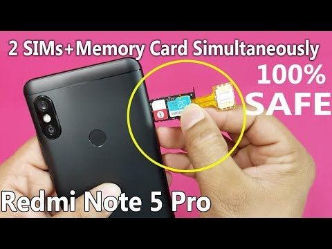 Xiaomi Redmi Note 5 PRO - Dual Sim & SD Card Simultaneously    How To Use 2 Sims And SD Card