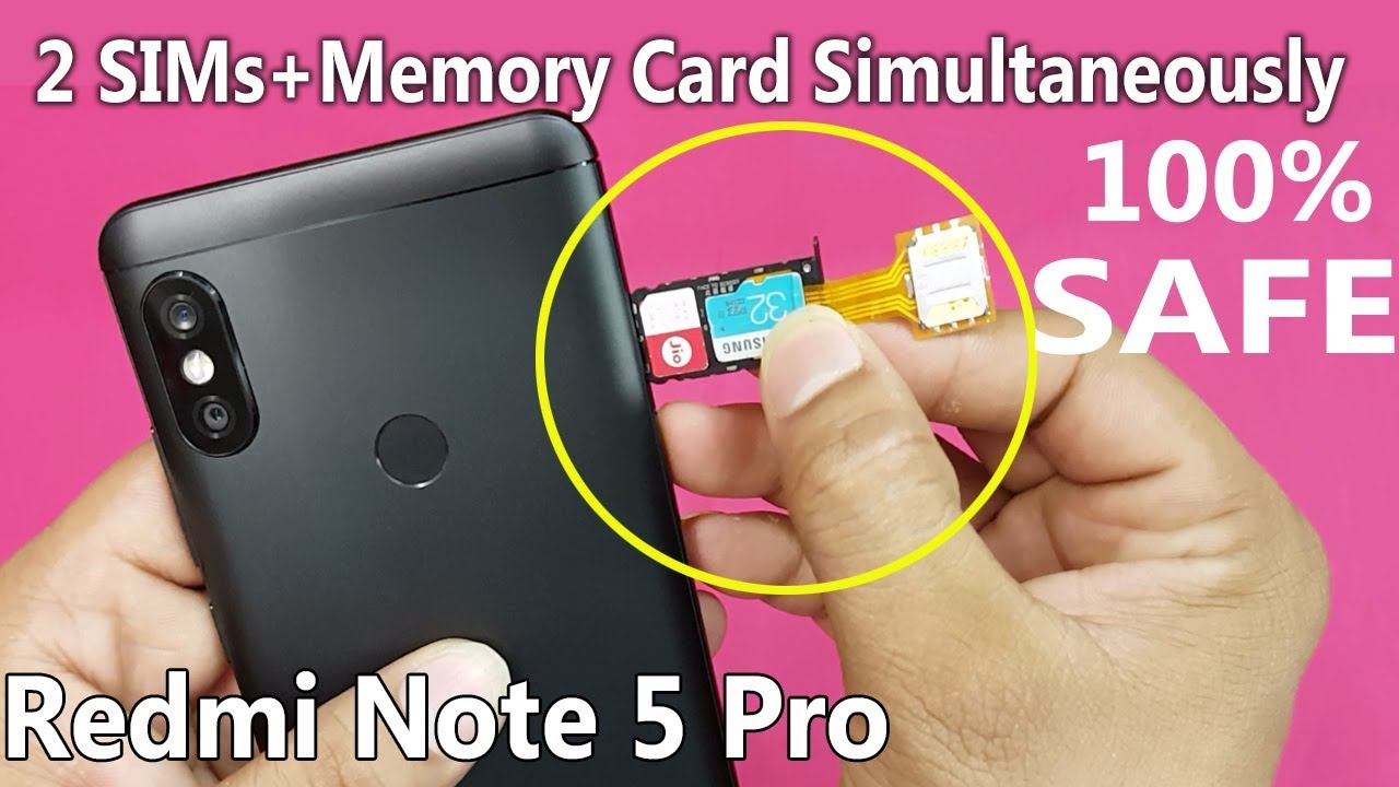 carte sim redmi note 5 Xiaomi Redmi Note 5 PRO   Dual sim & SD Card Simultaneously || How