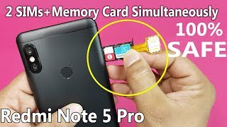 Xiaomi Redmi Note 5 PRO - Dual sim & SD Card Simultaneously || How to Use 2 Sims and SD Card