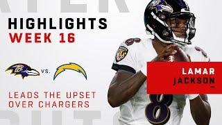 Lamar Jackson Highlights vs. Chargers