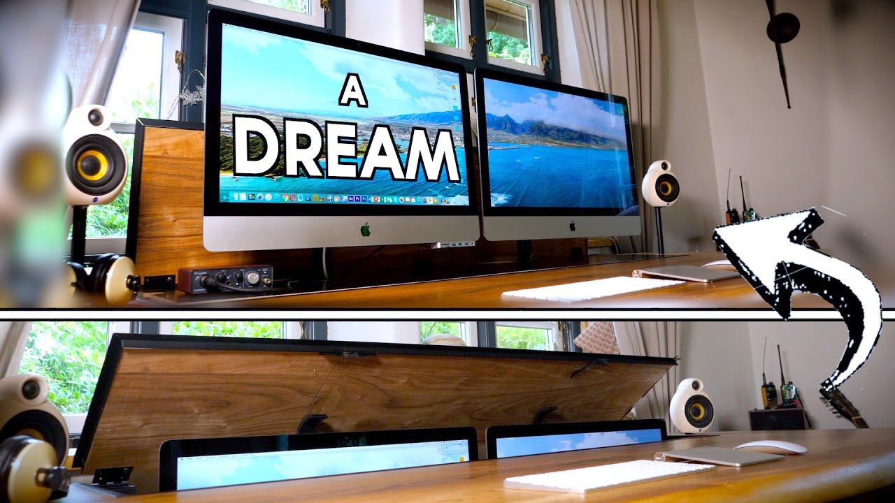 DIY Schreibtisch mit dualem Monitor Lift - Dream Desk Setup 2019 | Tips, Tricks & More