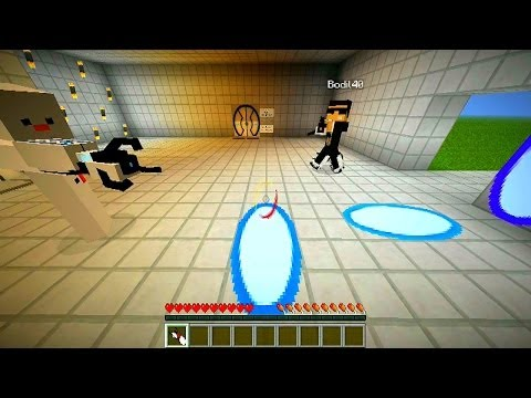 Minecraft PORTAL Adventure Map #1 (Portal Mod Map) with Vikkstar, Bodil & Baki!