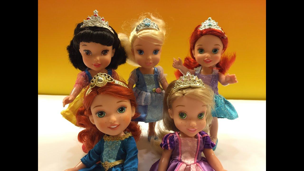 Disney princess petite gift set rapunzel cinderella ariel merida snow white youtube - Petite princesse disney ...