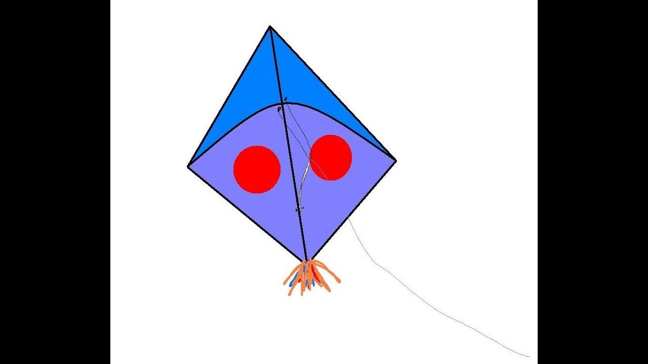Line Art Kite : Image gallery kite drawing