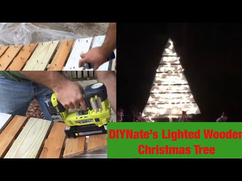 DIYNate and DIYPaige Christmas Special: Lighted Wooden Christmas Tree Yard Ornament