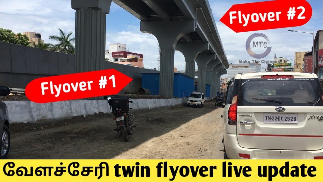 Velachery flyover latest update | Velachery Twin flyover | Chennai Infrastructure | Vijaya nagar |
