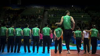 246cm Tall Volleyball Player Morteza Mehrzad (HD)
