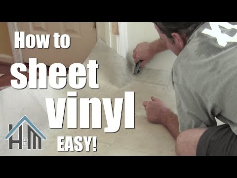 How to install vinyl floor, sheet vinyl. Easy! Home Mender