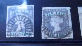 stamps: queen victoria australia TOO LATE