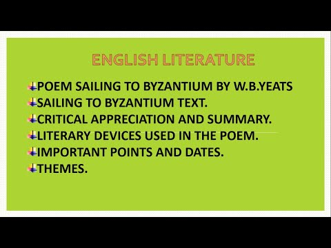 Sailing To Byzantium By William Butler Yeats   In Urdu And Hindi   Notes Are In The Description Box.