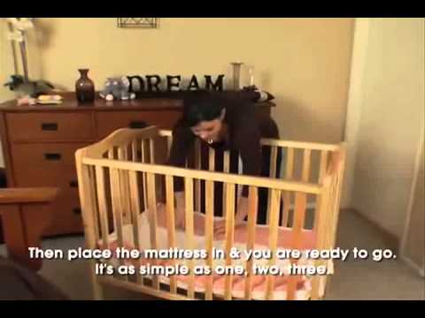 Amazing Dream On Me 2 In 1 Folding Portable Crib Style #681