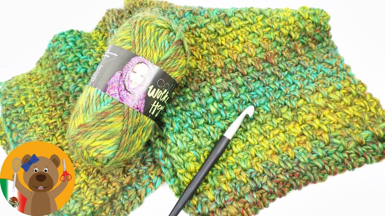 Gran bufanda para el invierno | Patrón perlas | Tutorial para tejer ...