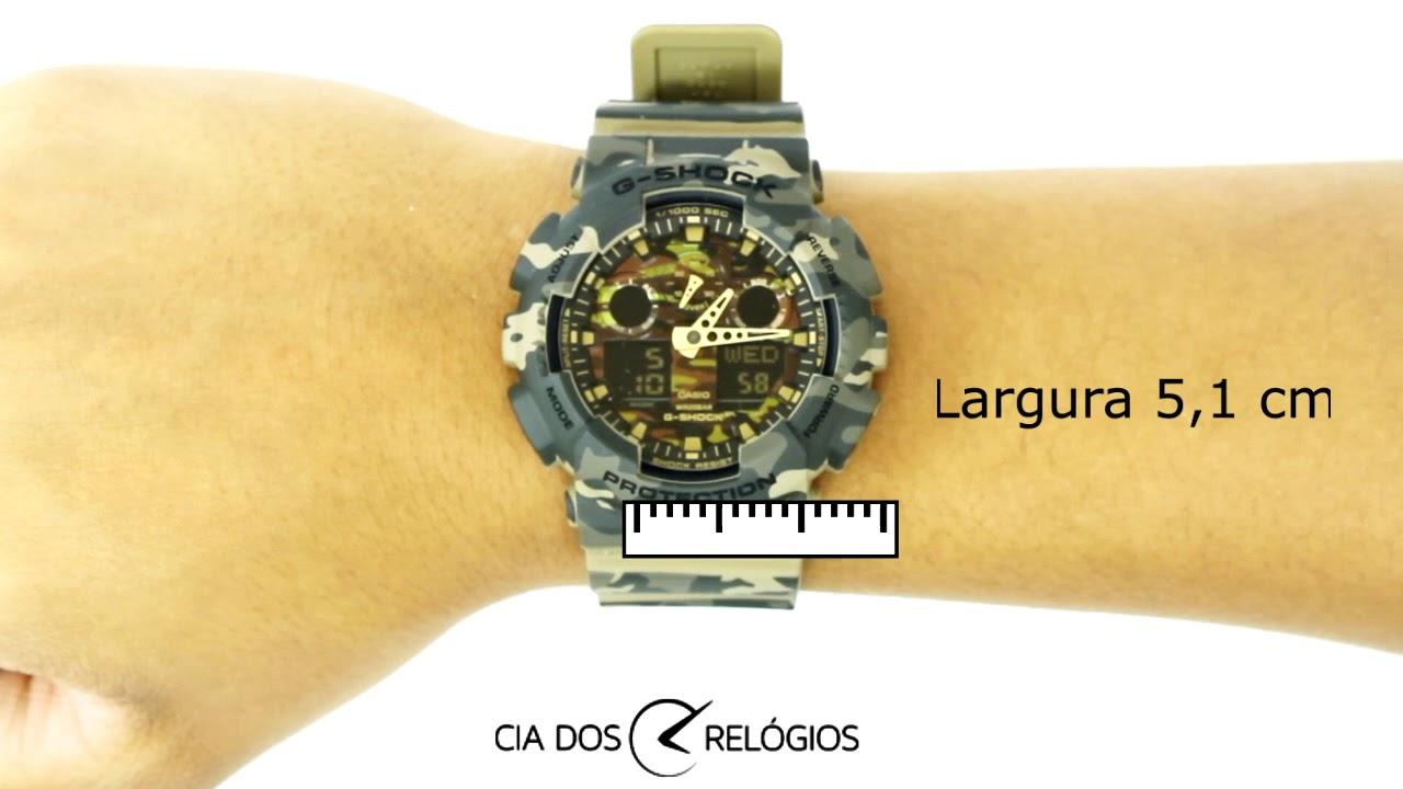 006de04262e Casio G Shock Camuflado GA 100CM 5ADR. Cia dos Relógios