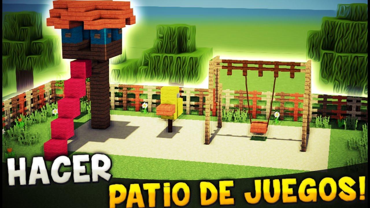 Minecraft como hacer un patio de juegos zona de juegos for Como decorar el patio de mi casa