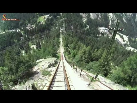 """Gelmer funicular"" Europe's steepest funicular railway, SWITZERLAND, eu 