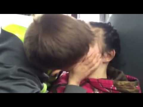First kiss on the bus:)