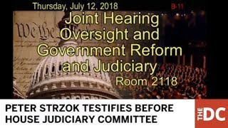 WATCH LIVE: Embattled FBI Agent Peter Strzok Testifies Before House Judiciary Commitee