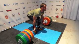 Dmitry Klokov - deadlift 295 x 2
