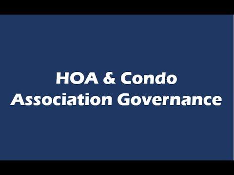 The Governance of An Association