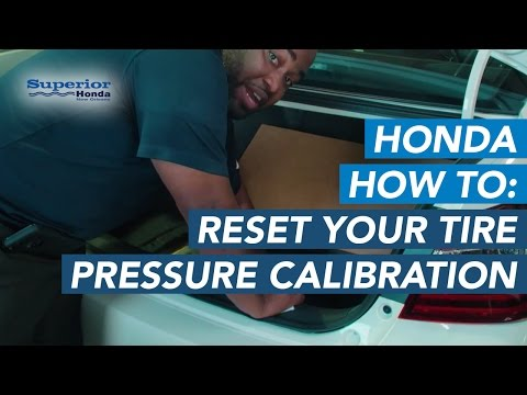 How to Reset Your Honda's Tire Pressure Calibration