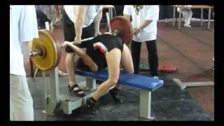 Natalya Konovalova raw bench press 107,5 kg NO lift