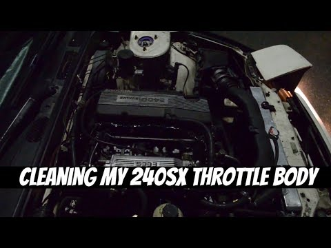 Cleaning My 240sx Throttle Body