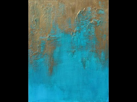 How To Paint With Acrylics: Create A Textured Abstract Art Painting - Using Texture Mediums