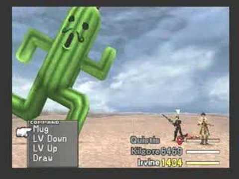 Final Fantasy VIII Low Level Jumbo Cactuar Battle