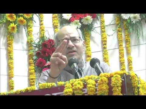 Environment Minister Anil Madhav Dave addresses Nadi Jal Paryavaran Sanrakshan Manthan' in Bhopal
