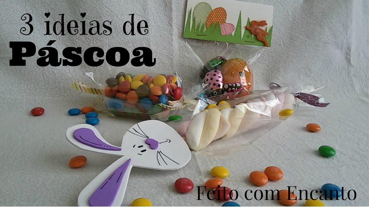 Ideias De Pascoa ~ DIY 3 ideias de Páscoa baratas e rápidas com saquinho plástico YouTube