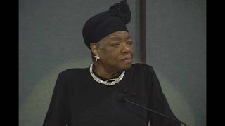"Dr. Maya Angelou at Evergreen, ""Rainbow in the Clouds."""