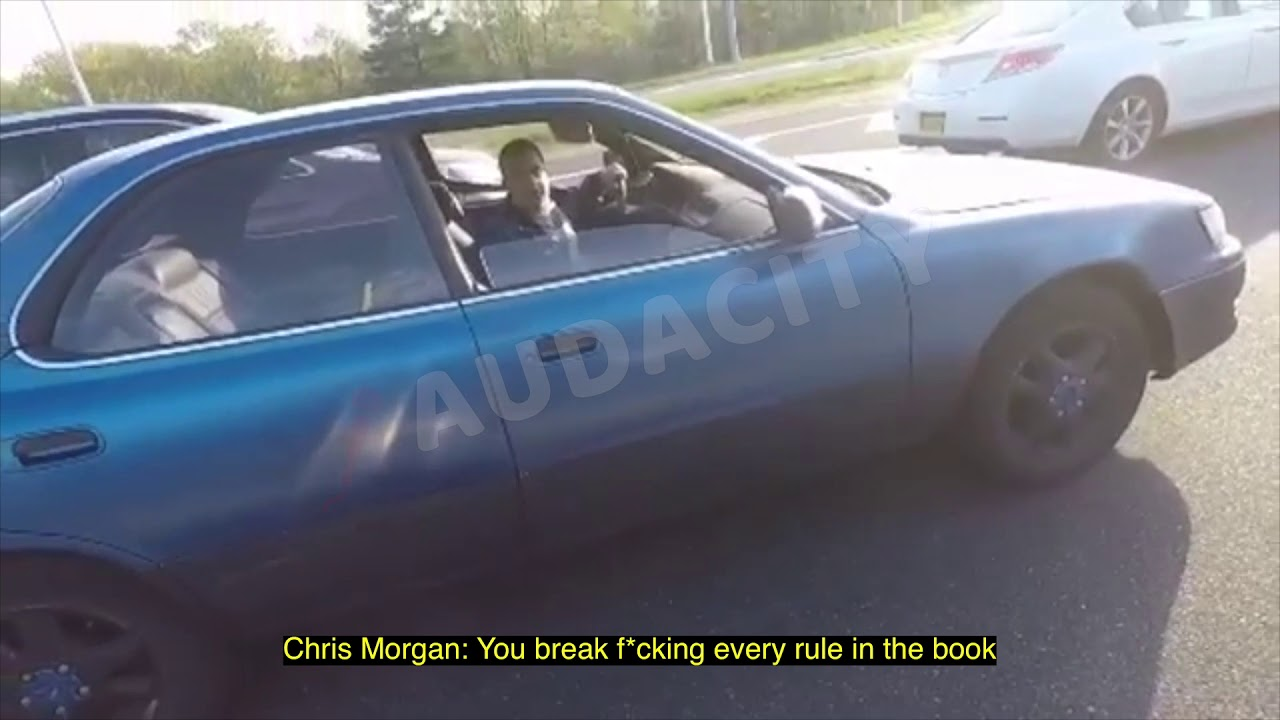 """Chis """"Bagel Boss"""" Morgan Argues In Traffic With Motorcyclist"""