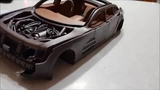 Постройка Модели Автомобиля Из Пластилина 10. Внешняя Обшивка (2 Часть)