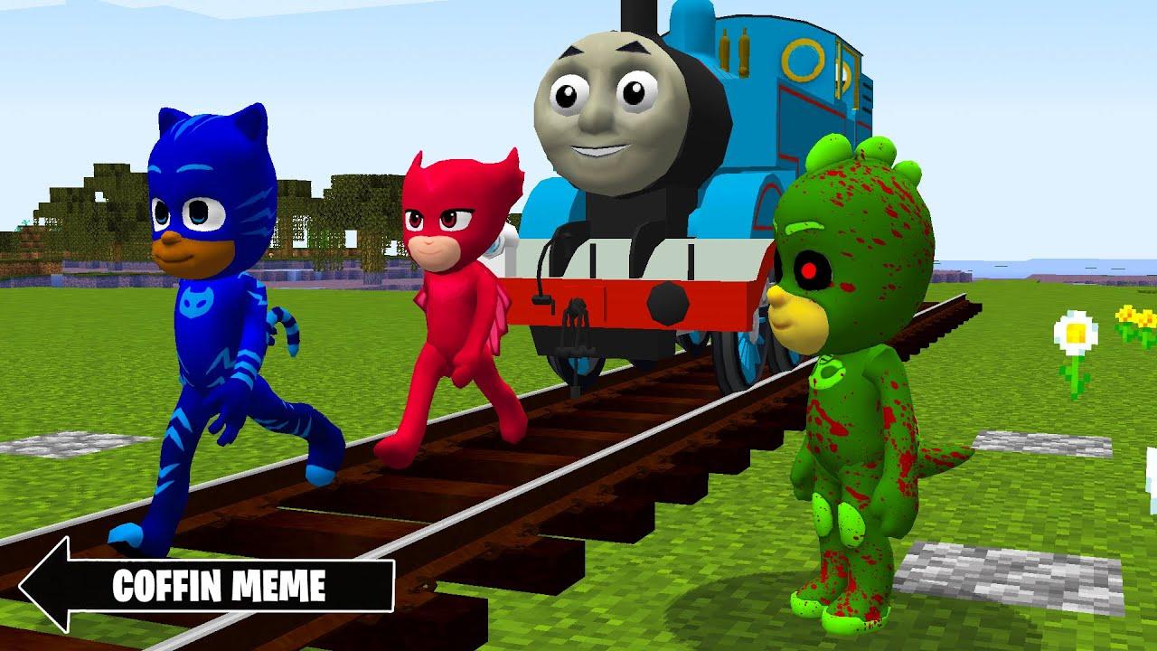 Pj Masks vs Thomas The Tank Engine in Minecraft - Coffin Meme