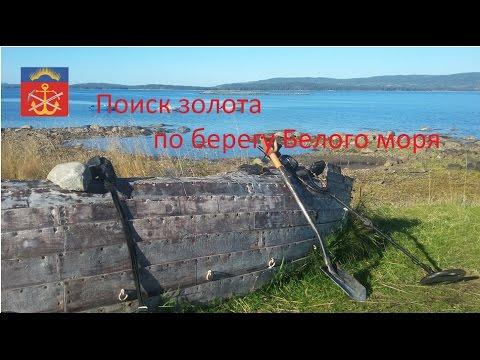 Осенний поиск золота по берегу Белого моря
