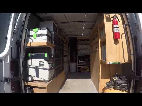 Uber-organized work van setup / design / tour ( sprinter 2500) by HomePro Rx, CT