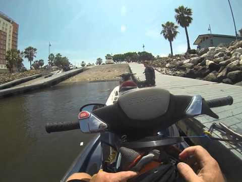 Jet Ski in dirty Long Beach