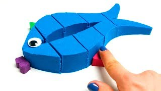 Kinetic Sand Fish Creative Video For Children Learn Colors And Numbers