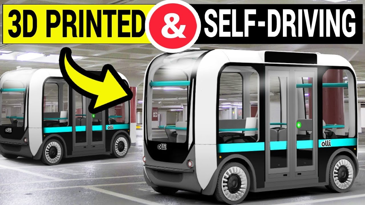 3D Printed & Self-Driving Electric Shuttle Goes LIVE | Olli