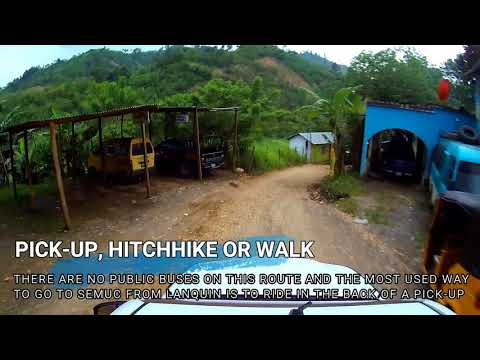 Travel by pick-up bus from Lanquin to Semuc Champey