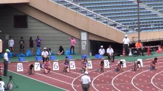 2013日本インカレ女子100m予選7組三木汐莉12.02(+2.8) Shiori Miki1st